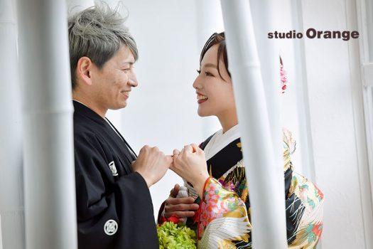 結婚式 ウェディング 和装 色打掛 フォトスタジオ 奈良店 オレンジ 写真館