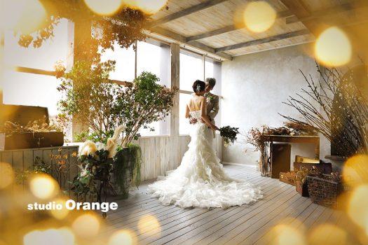 結婚式 ウェディング ドレス タキシード 洋装 ベール フォトスタジオ 奈良店 オレンジ
