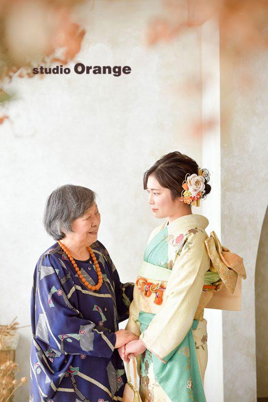 奈良店 フォトスタジオ 写真館 成人式 振袖 1人写し 家族写し