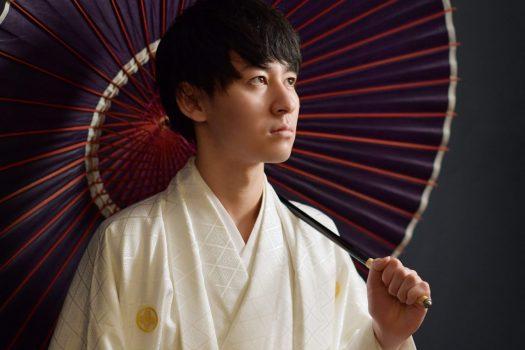男性袴 成人式 白い袴