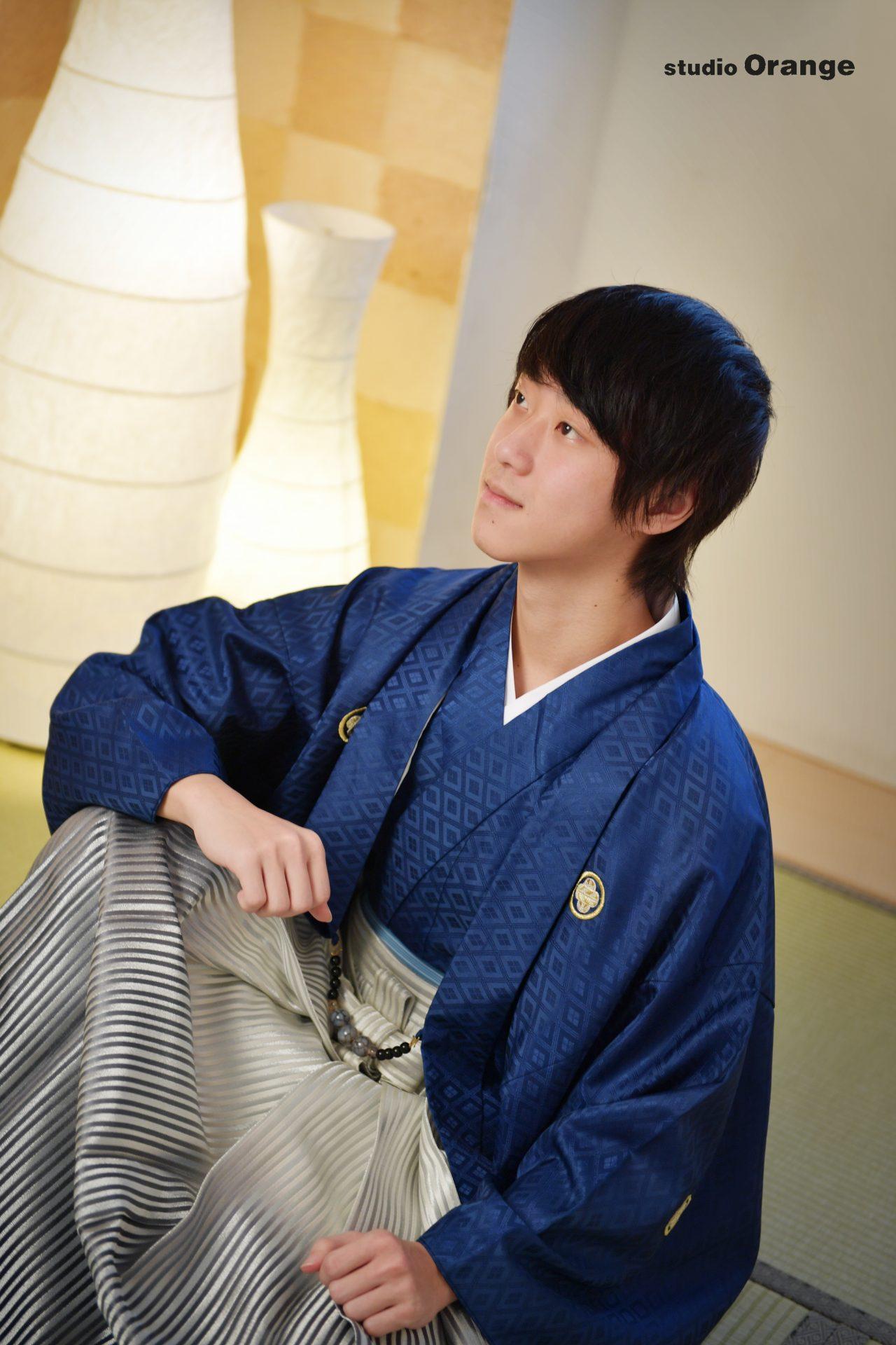 青い袴 レンタル袴 奈良市