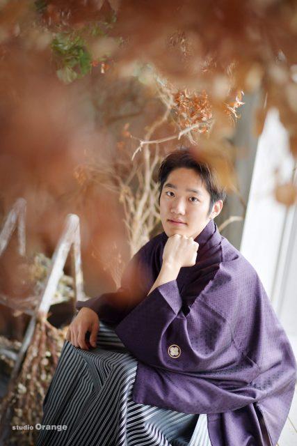 奈良市 男性成人 紫色の袴