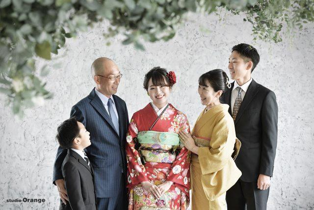 奈良市学園南 成人式前撮り 家族写真