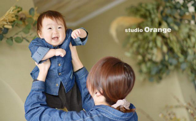 奈良市 スタジオオレンジ フォトスタジオ 写真館 奈良市 1歳 お誕生日 firstバースデー
