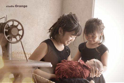 奈良市 ニューボーンフォト 新生児フォト 姉弟撮影