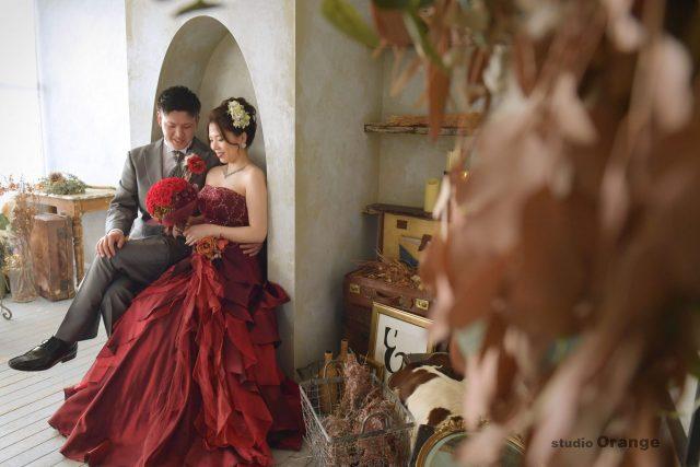 結婚式 前撮り カラードレス
