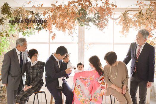 奈良市写真館 フォトスタジオ スタジオオレンジ お宮参り 春日大社 帯解寺 祝い着 初着