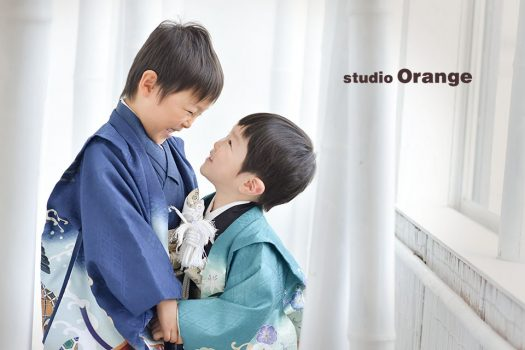 奈良フォトスタジオ 七五三 着物 兄弟撮影