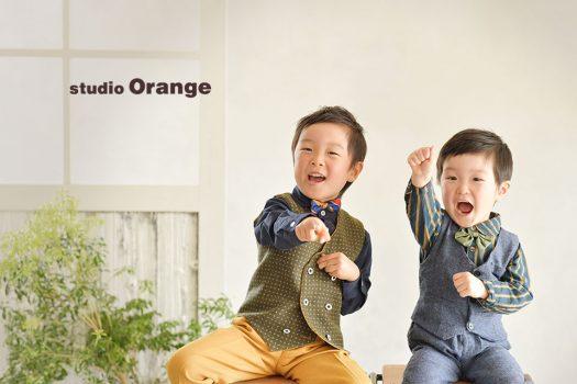 奈良写真館 洋装 タキシード 兄弟