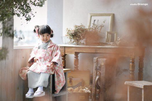 七五三 春日大社にお参り 奈良市 3歳女の子
