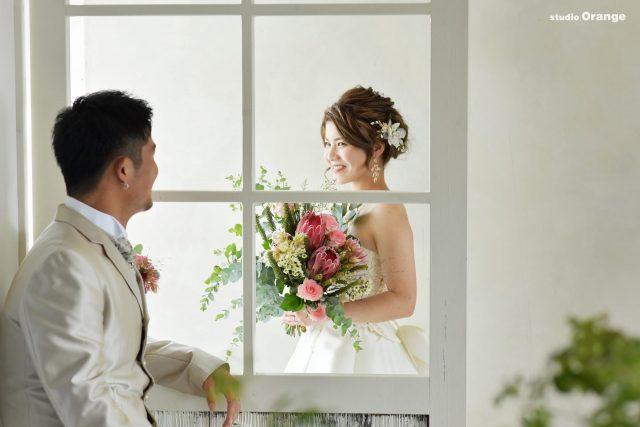 ウェディングフォト ウェディングドレス 奈良市 新郎新婦