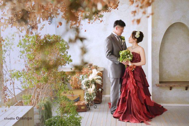 ウェディング 赤いドレス 奈良市
