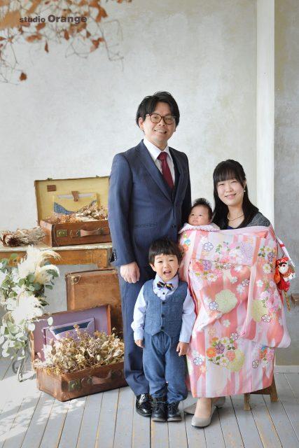 お宮参り 家族撮影 女の子 春日大社