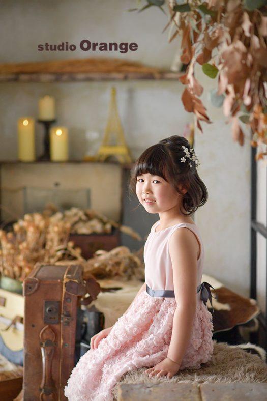 洋装 ピンクのドレス 奈良市