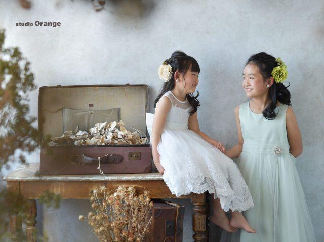 奈良写真館 奈良フォトスタジオ ドレス撮影 姉妹撮影