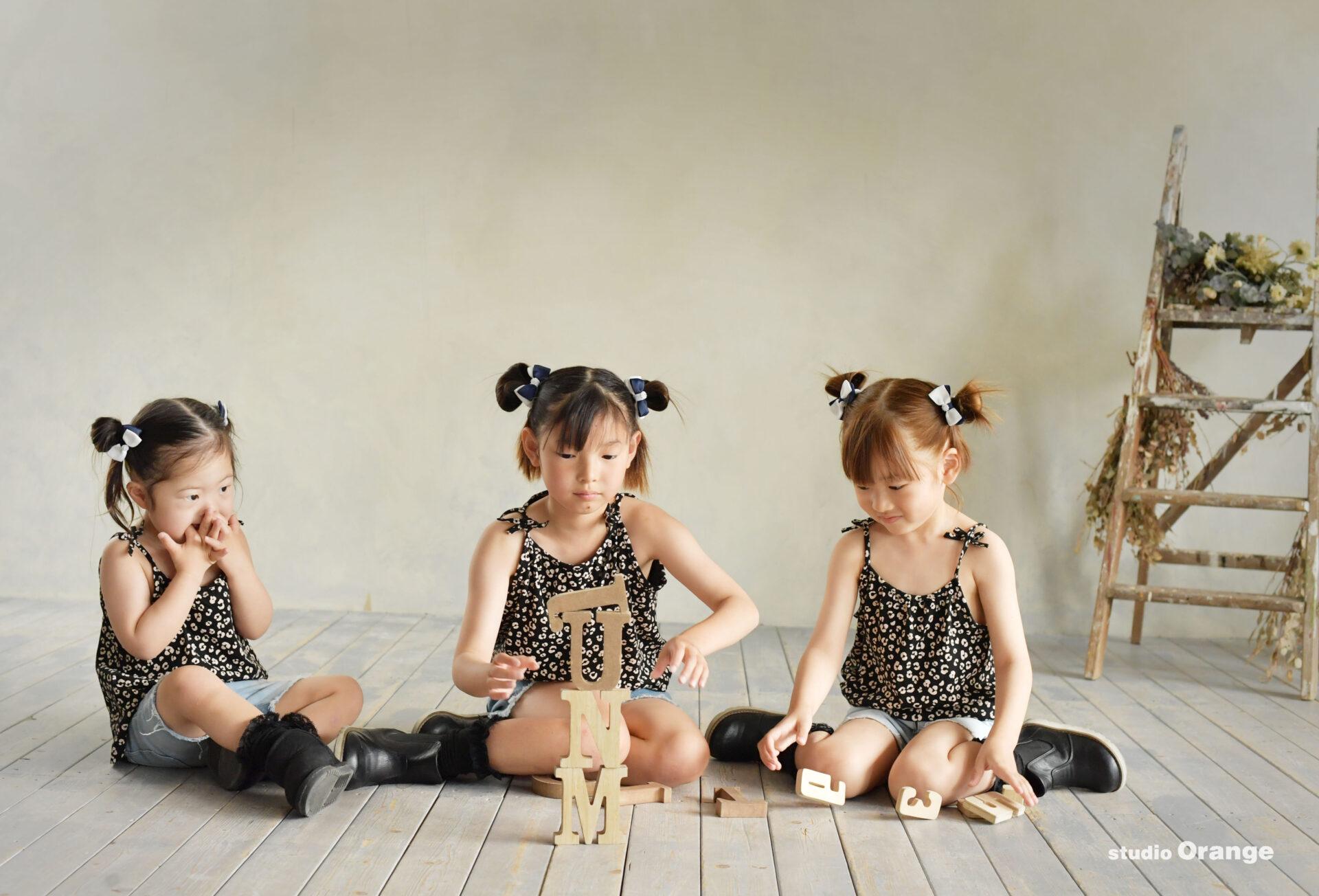 フォトスタジオ 3姉妹 私服