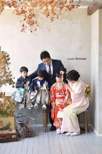753 七五三 奈良 フォトスタジオ 家族写真