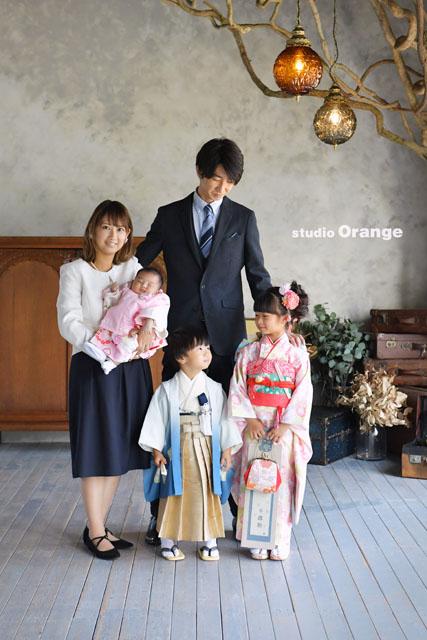 七五三 奈良 フォトスタジオ 家族写真