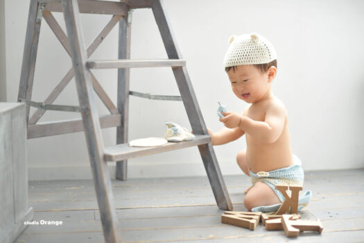 奈良市 フォトスタジオ 1歳お誕生日記念写真撮影 男の子