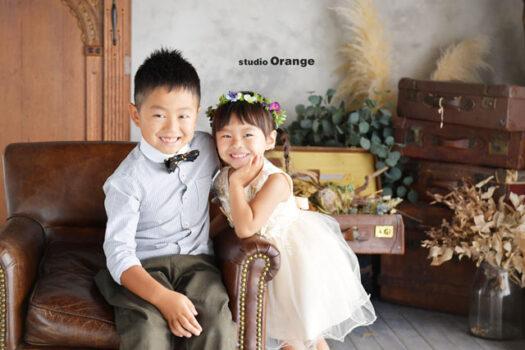 兄弟写真 ドレス スーツ 奈良市 フォトスタジオ 写真館