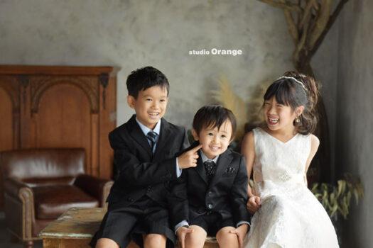 753 七五三 ドレス スーツ 奈良 フォトスタジオ 家族写真