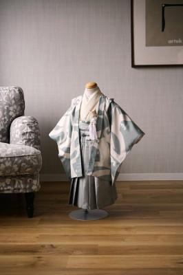 3歳男の子の七五三着物 奈良市のフォトスタジオ 七五三衣装レンタル